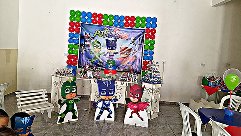 Festa Infantil PJ Masks do Levy 4
