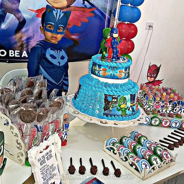 Festa Infantil PJ Masks do Levy 5