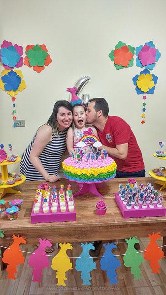 Festa Infantil Trolls da Marjorie