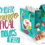 Flamingo Tropical Kit Festa Grátis para Imprimir em Casa