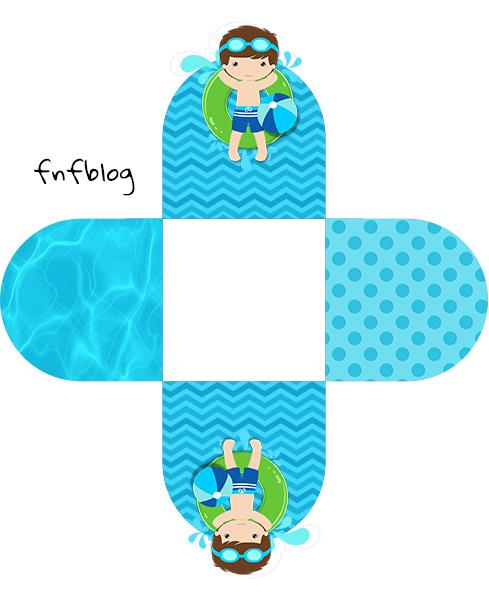 Forminha Docinho 3D Pool Party Menino Kit Festa