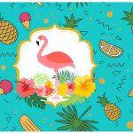 Lata de leite Flamingo Tropical