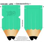 Mini Caixa Lápis Dia do Professor Verde