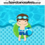Mini Pastilha Docile Pool Party Menino