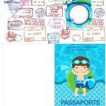 Molde Passaporte Pool Party Menino Kit Festa