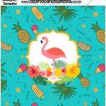 Molde Quadrado Flamingo Tropical