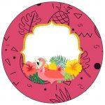 Molde para Latinha Flamingo Tropical