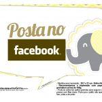 Plaquinhas Elefantinho Amarelo e Cinza Chevron 2