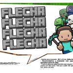 Plaquinhas para Festa Minecraft 32