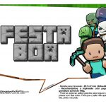 Plaquinhas Festa Minecraft 4