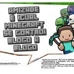 Plaquinhas Festa Minecraft 8