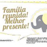 Plaquinhas para Festa Elefantinho Amarelo e Cinza Chevron 10