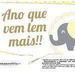 Plaquinhas para Festa Elefantinho Amarelo e Cinza Chevron 19