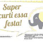 Plaquinhas para Festa Elefantinho Amarelo e Cinza Chevron 20
