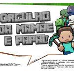 Plaquinhas para Festa Infantil Minecraft 11