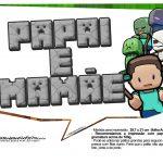 Plaquinhas para Festa Minecraft