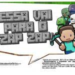 Plaquinhas para Festa Minecraft 16