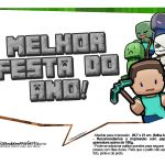 Plaquinhas para Festa Minecraft 22