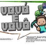 Plaquinhas para Festa Minecraft 23