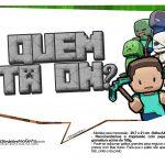 Plaquinhas para Festa Minecraft 3