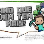Plaquinhas para Festa Minecraft 5