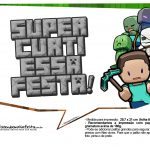 Plaquinhas para Festa Minecraft 6