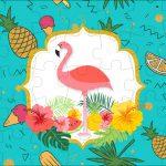 Quebra cabeça Flamingo Tropical