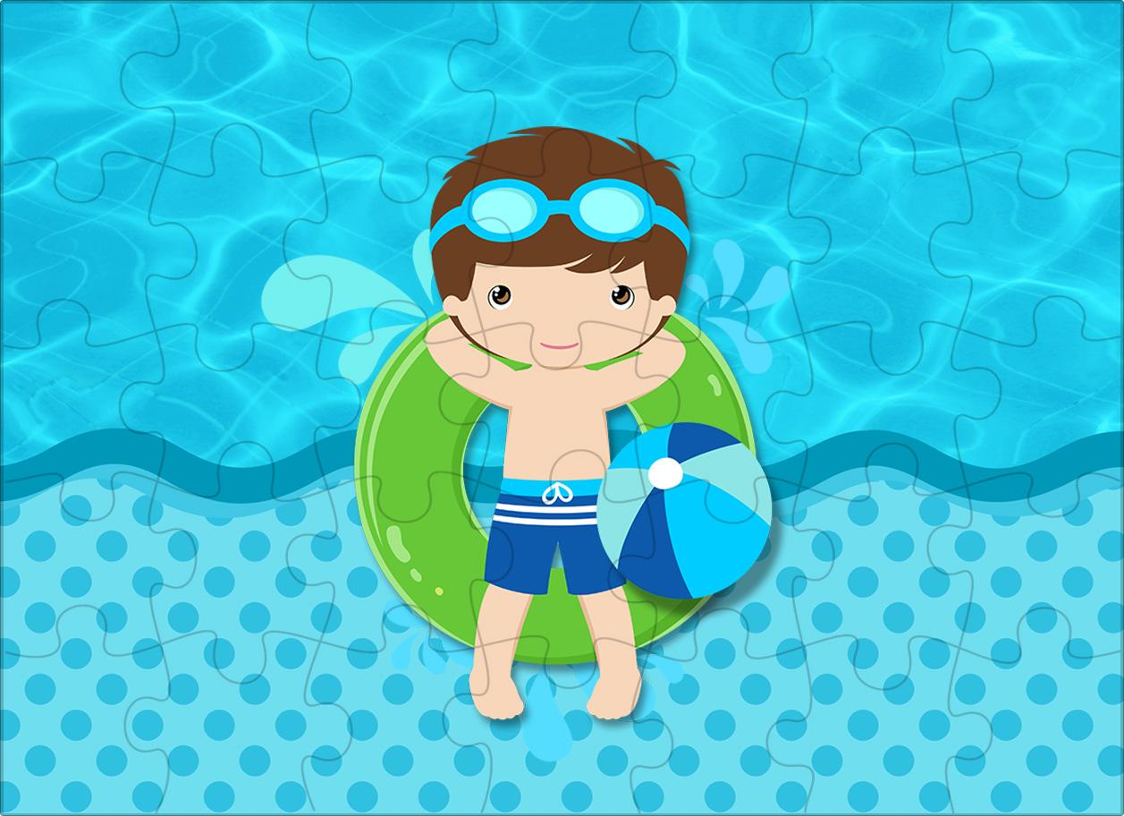 Quebra cabeca Pool Party Menino