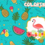 Revista Colorindo Flamingo Tropical