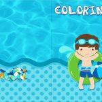 Revista Colorindo Pool Party Menino