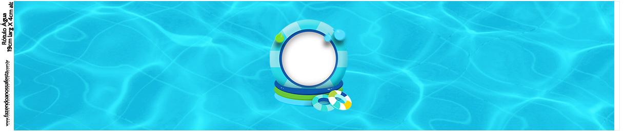 Rotulo Agua Pool Party Menino