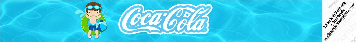 Rotulo Coca cola Pool Party Menino