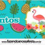 Rotulo Mentos Flamingo Tropical
