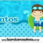 Rotulo Mentos Pool Party Menino