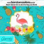 Rotulo Mini Baton Garoto Flamingo Tropical