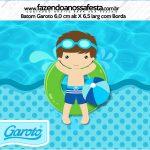 Rotulo Mini Baton Garoto Pool Party Menino