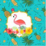 Rotulo Mini Confeti Flamingo Tropical