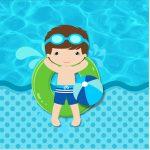 Rotulo Mini Confeti Pool Party Menino