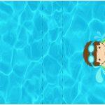 Rotulo Mini Talento Pool Party Menino