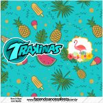 Rotulo Mini Trakinas Flamingo Tropical