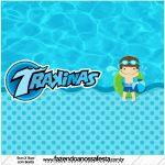 Rotulo Mini Trakinas Pool Party Menino
