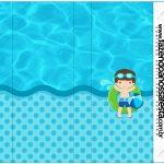 Rotulo Nescau Pool Party Menino