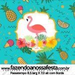 Rotulo Passatempo Flamingo Tropical Kit Festa