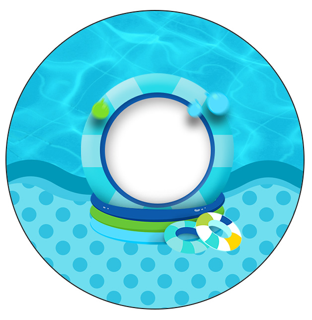 Rotulo Personalizado para latinha e toppers Pool Party Menino