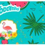Rotulo Toddynho Flamingo Tropical
