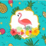 Rotulo Tubetes Flamingo Tropical