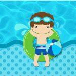Rotulo Tubetes Pool Party Menino