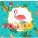 Rotulo Vinho e Espumante Flamingo Tropical