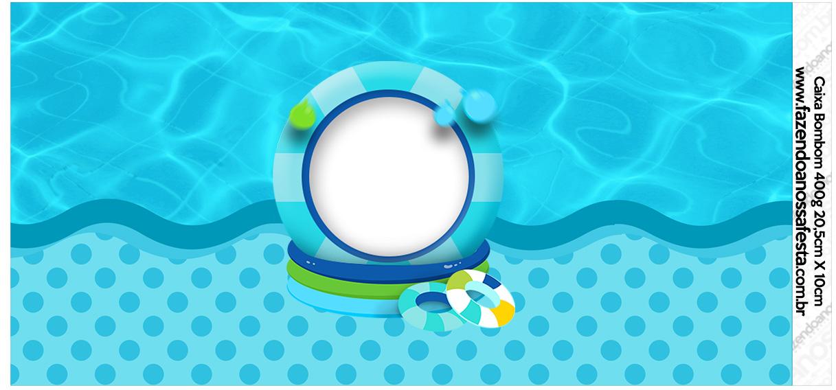 Rotulo para Caixa bombom Pool Party Menino