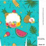 Sacolinha Surpresa 1 2 Flamingo Tropical Kit Festa
